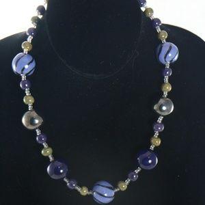 Kazuri Jewelry - KAZURI Doria 'Deepwater' 18 in Handmade Necklace
